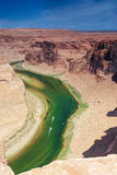 Partial View of Extraordinary Miraculous Horseshoe Bend in Arizo Royalty Free Stock Photo