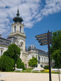 Partial view of Festetics Palace, in Keszthely town, Hungary. Royalty Free Stock Photography