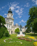 Partial view of Festetics Palace in Keszthely town, Hungary Stock Photography
