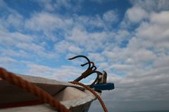 Partial view of a fishing boat Royalty Free Stock Image