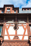 Partial view of the former royal Peles castle, Sinaia, Romania Royalty Free Stock Photography