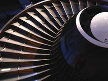 Partial View of Jet Engine Royalty Free Stock Photo