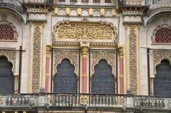 Partial view of The Lakshmi Vilas Palace, was built by Maharaja Sayajirao Gaekwad 3rd in 1890, Vadodara Baroda, Gujarat. India Stock Images