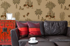 Partial view into a living room Stock Photography
