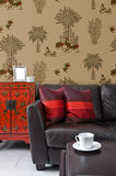 Partial view into a living room Royalty Free Stock Photography