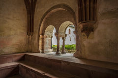Partial view of the monastery Eberbach cloister Eltville am Rhei. N Rheingau Hessen Germany Royalty Free Stock Image