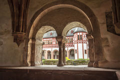 Partial view of the monastery Eberbach cloister Eltville am Rhei. N Rheingau Hessen Germany Royalty Free Stock Photos