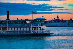 Free Partial View Of Disney Ferry And Grand Floridian Resort & Spa On Beautiful Sunset Background At Walt Disney World  Area 1 Royalty Free Stock Images - 146100169