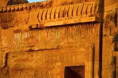 Partial view of the Temple of Kom Ombo, Is an unusual double temple, It was constructed during the Ptolemaic dynasty, 180-47 BC. Partial view of the Temple of Stock Photos