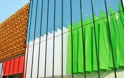 A partial view to the Japan EXPO Milano 2015 pavilion. Stock Photography