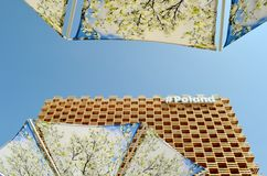 A partial view to the Poland pavilion of the EXPO Milano 2015. Stock Photos