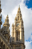 Partial view of Vienna City Hall,  Wiener Rathaus Royalty Free Stock Images