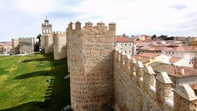 Partial view of the walls of Avila Spain royalty free stock photos