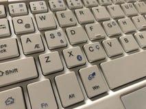 Partial white computer keyboard royalty free stock photos