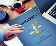 Partiality Prejudice Unfairness Help Victims Bias Concept Royalty Free Stock Photo
