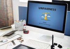 Partiality Prejudice Unfairness Help Victims Bias Concept Stock Photo