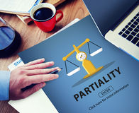 Partiality Prejudice Unfairness Help Victims Bias Concept Royalty Free Stock Photos