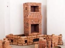 Partially built masonry heater Royalty Free Stock Photos