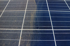 Partially Clean Photovoltaic Panels Royalty Free Stock Photography