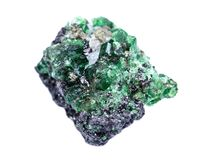 Partially crystallized rough Tsavorite from Tanzania Stock Images