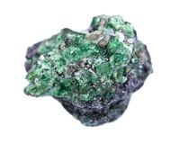 Partially crystallized rough Tsavorite from Tanzania Stock Photo