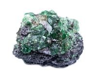 Partially crystallized rough Tsavorite from Tanzania Royalty Free Stock Photography