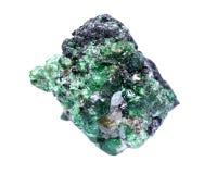 Partially crystallized rough Tsavorite from Tanzania Stock Photos