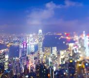 Partially Defocused Hongkong Royalty Free Stock Photography