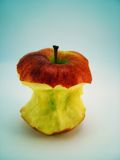 Partially eaten apple Royalty Free Stock Photography