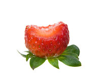 Partially eaten Strawberry Stock Photos