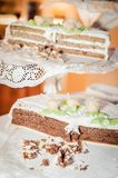 Partially eaten Wedding Cake Stock Images