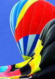 Partially Inflated Hot Air Balloons Royalty Free Stock Photo