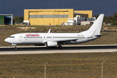 Partially painted Air Berlin 737 Royalty Free Stock Photo