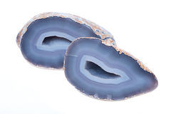 Partially polished blue lace agate geode Royalty Free Stock Image
