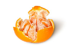 Partially Purified And Broken Tangerine Stock Images