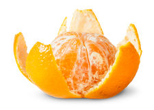 Partially Purified Juicy Tangerine Royalty Free Stock Photo