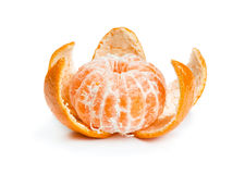 Partially purified mandarin Stock Photography