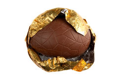 Partially Unwrapped  Easter Egg Royalty Free Stock Photography