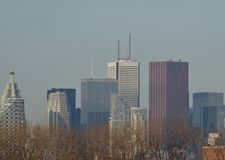A partially view of downtown Toronto royalty free stock photo