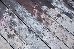 Diagonal Wooden Deck Stock Image
