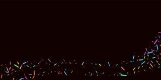 Partibakgrund strilar kornigt söta konfettiar vektor illustrationer