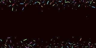 Partibakgrund strilar kornigt s?ta konfettiar royaltyfri illustrationer