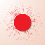 Particella astratta di esplosione su un fondo rosa Immagini Stock Libere da Diritti