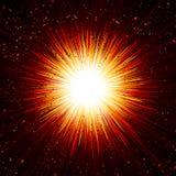 Particella Ray Beam Light Background della scintilla del fuoco di colpo di esplosione Immagini Stock