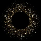Particelle brillanti di scintillio del cerchio dorato dei coriandoli royalty illustrazione gratis