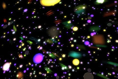Particelle d'ardore del fondo astratto di immagine Fotografia Stock Libera da Diritti