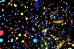 Particelle d'ardore del fondo astratto di immagine Fotografie Stock Libere da Diritti