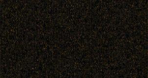 Particelle dorate della scintilla di scintillio su fondo nero, festa del buon anno immagine stock