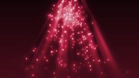 Particelle e luce soleggiata scintillante illustrazione di stock