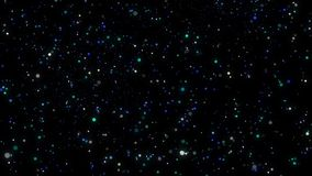 Particelle e luci colorate d'ardore loopable astratte stock footage
